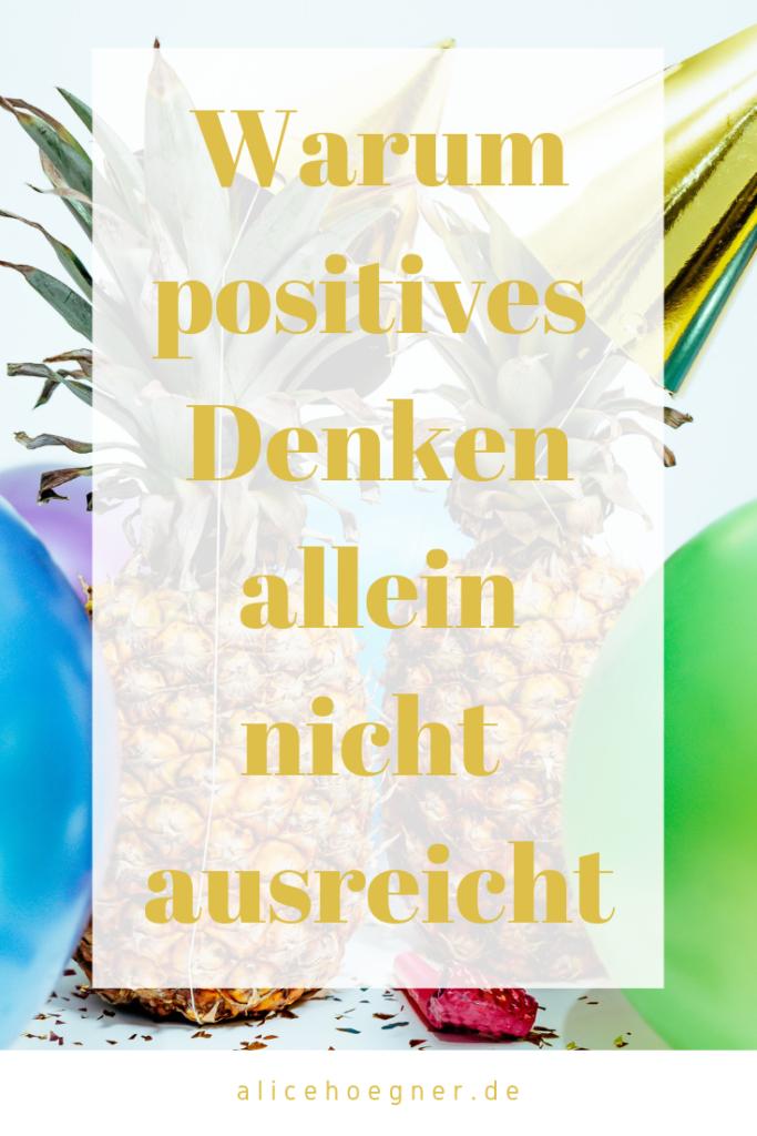Positives Denken ist wichtig, es braucht aber auch die Handlungen.